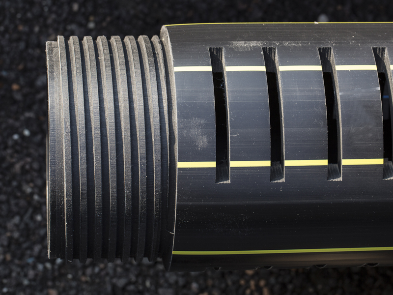 Filtres d'évacuation à fentes en HDPE